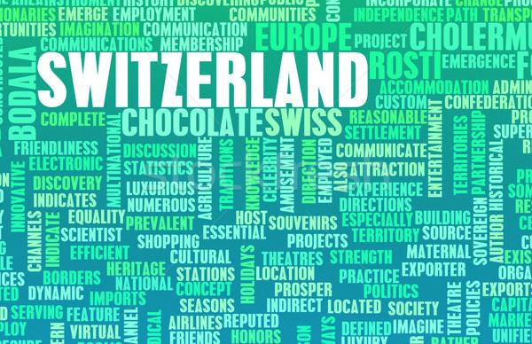 Швейцария стране аннотация искусства бизнеса продовольствие Сток-фото © kentoh