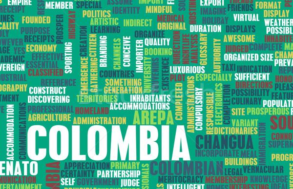 Colômbia país abstrato arte negócio comida Foto stock © kentoh