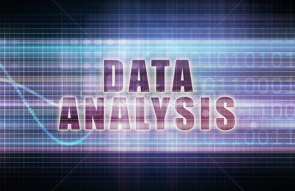 данные анализ Tech бизнеса диаграммы искусства Сток-фото © kentoh