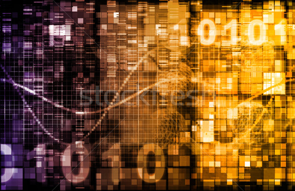 Digitális bináris kód kép technológia számítógép háttér Stock fotó © kentoh