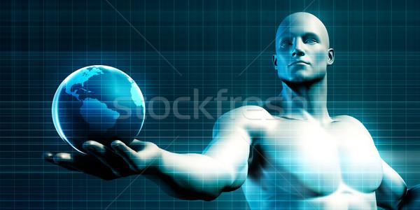 Wereldwijd technologie massa adoptie nieuwe Stockfoto © kentoh