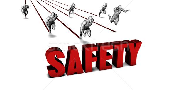 Jobb biztonság üzleti csapat versenyzés üzletember fut Stock fotó © kentoh