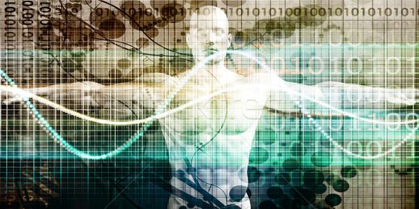 Tudomány technológia emberi test anatómia kutatás Stock fotó © kentoh