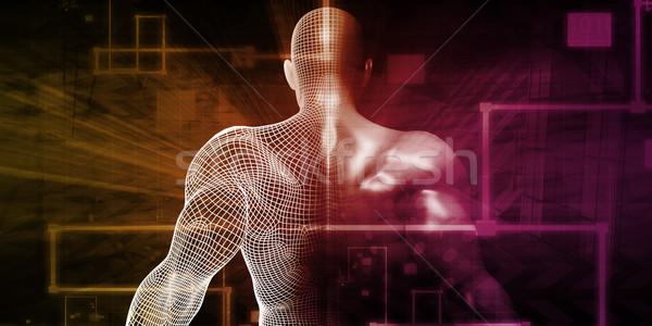 Ludzi implant technologii medycznych zdrowia muzyka Zdjęcia stock © kentoh