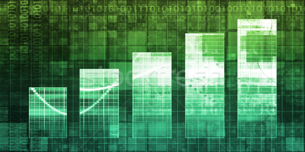 Digitális absztrakt növekedés oszlopdiagram háttér vállalati Stock fotó © kentoh