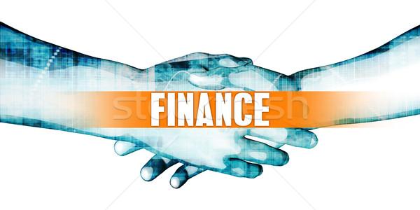 Financiar empresarios apretón de manos blanco manos fondo Foto stock © kentoh