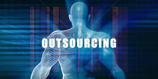 Outsourcing futuristische abstract technologie Stockfoto © kentoh