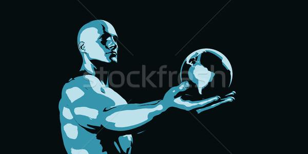 Global ciencia proyecto desarrollo crecimiento negocios Foto stock © kentoh