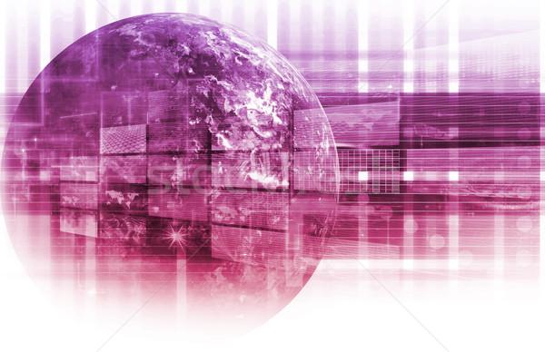 Technologia informacyjna danych sieci streszczenie projektu technologii Zdjęcia stock © kentoh
