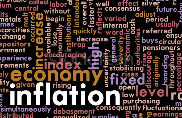 Infláció gazdasági probléma kormány pénzügyi vezetőség Stock fotó © kentoh