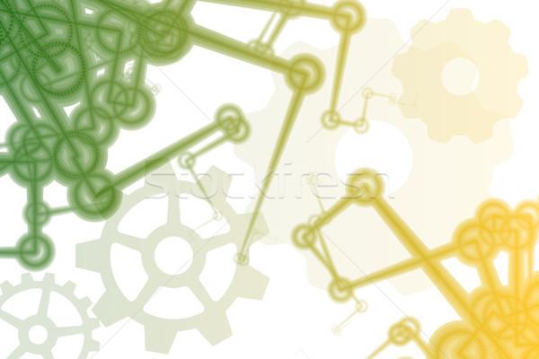 Futuristic Factory Robot Arms Abstract Stock photo © kentoh