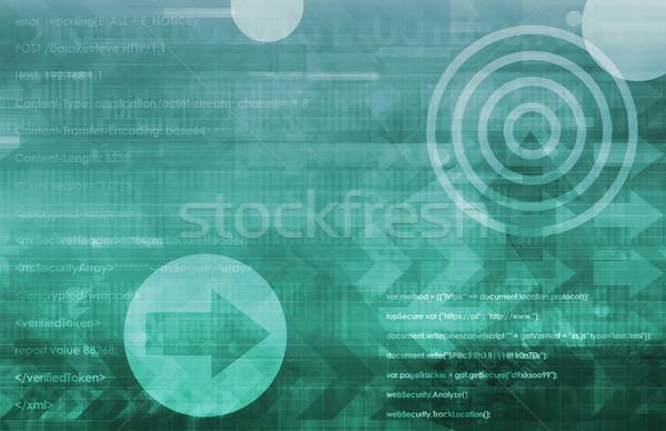 Otwarte źródło technologii działalności tle Zdjęcia stock © kentoh