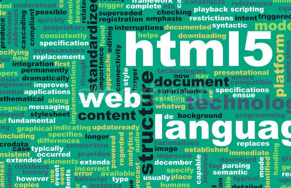 HTML 5 Stock photo © kentoh