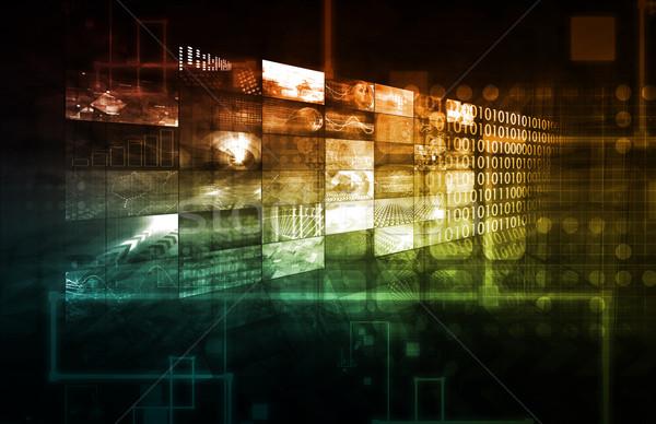 Technologii infrastruktura streszczenie sztuki tle bezpieczeństwa Zdjęcia stock © kentoh