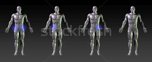 Csípő gyógyulás rehabilitáció kék izzik sportok Stock fotó © kentoh