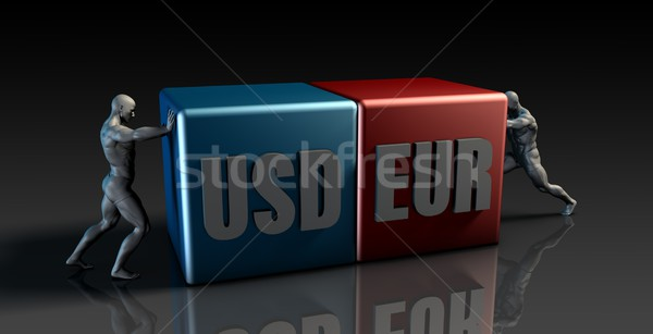 USD EUR Currency Pair Stock photo © kentoh