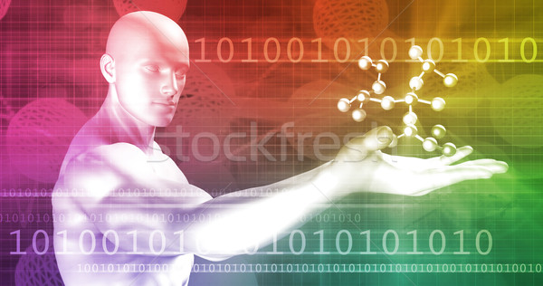 Biotechnologie résumé avenir école design éducation Photo stock © kentoh