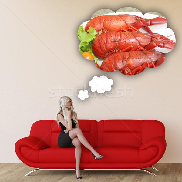 女性 渇望 シーフード 思考 食べ 食品 ストックフォト © kentoh