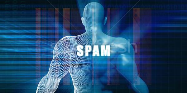 Spam futuristische abstract business technologie zakenman Stockfoto © kentoh