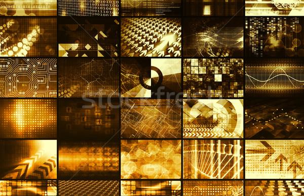 Stok fotoğraf: Dijital · reklam · web · Internet · medya · model