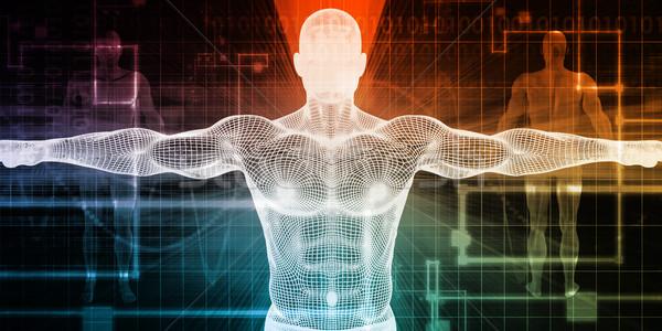 Biología ciencia negocios ordenador resumen cuerpo Foto stock © kentoh