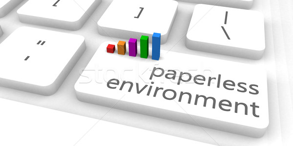 Paperless Environment Stock photo © kentoh