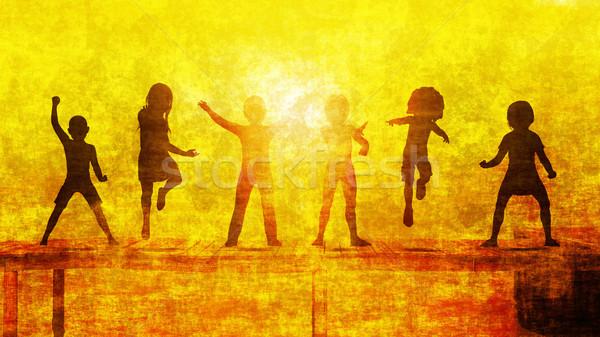 Dzieci słońce plaży dziewczyna dzieci Zdjęcia stock © kentoh