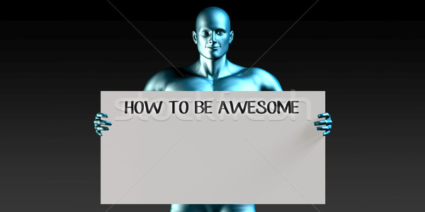 How to be Awesome Stock photo © kentoh