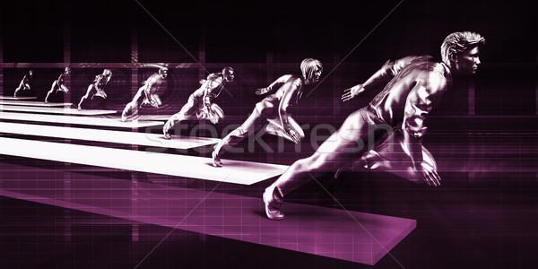 Confident Business People Running Stock photo © kentoh