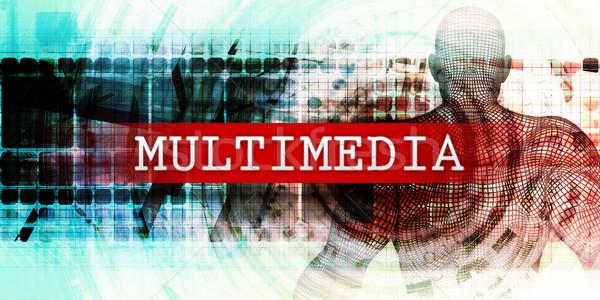 Multimedia industriële tech kunst abstract veld Stockfoto © kentoh