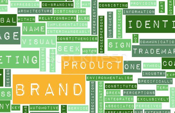 Product merk identiteit business achtergrond teken Stockfoto © kentoh