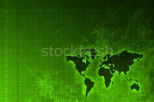 Vállalati világszerte növekedés absztrakt térkép internet Stock fotó © kentoh