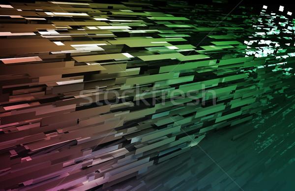 データ ネットワーク デジタル 高速 移動 光 ストックフォト © kentoh