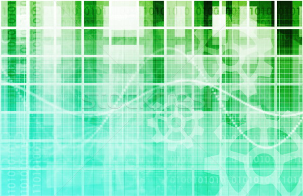 Biztonságos technológia hálózat háló adat átutalás Stock fotó © kentoh