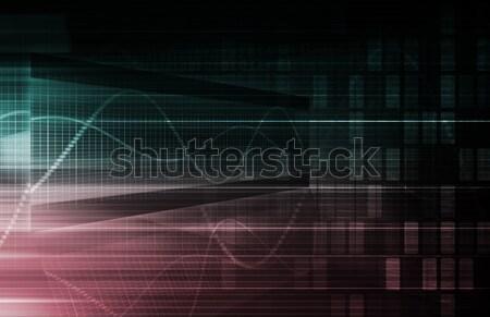 Teknoloji ağ sanayi soyut web iletişim Stok fotoğraf © kentoh