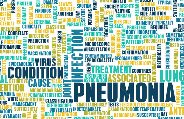 Tüdőgyulladás orvosi betegség művészet absztrakt egészség Stock fotó © kentoh