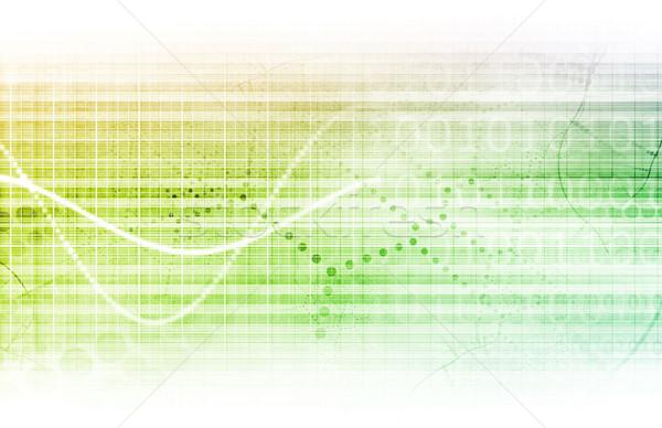 Wetenschappelijk onderzoek grafiek medische verkoop kunst abstract Stockfoto © kentoh