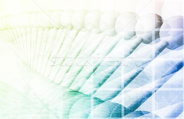 DNA bilim teknoloji arka plan ilaçlar Stok fotoğraf © kentoh