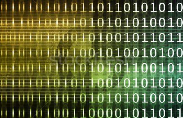 Dwójkowy technologii strumienia streszczenie komunikacji oprogramowania Zdjęcia stock © kentoh