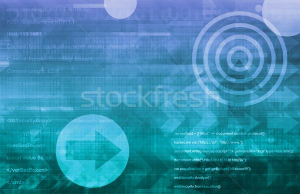 İş stratejisi global kurumsal şirket finanse yazılım Stok fotoğraf © kentoh