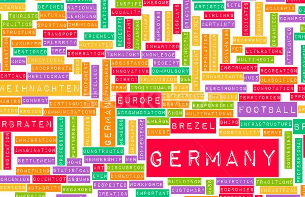 Сток-фото: Германия · стране · аннотация · искусства · бизнеса · фон