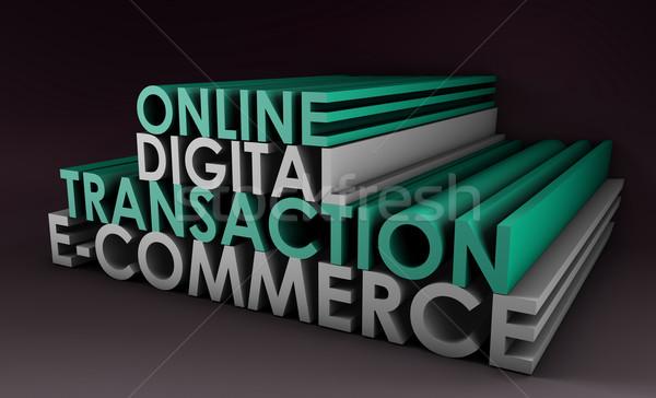Online digitalen Transaktion Website Computer Stock foto © kentoh