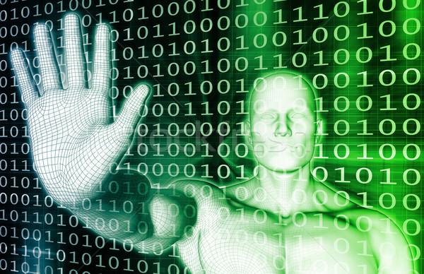 セキュリティ インターネット 安全 アンチウイルスの スキャン コンピュータ ストックフォト © kentoh