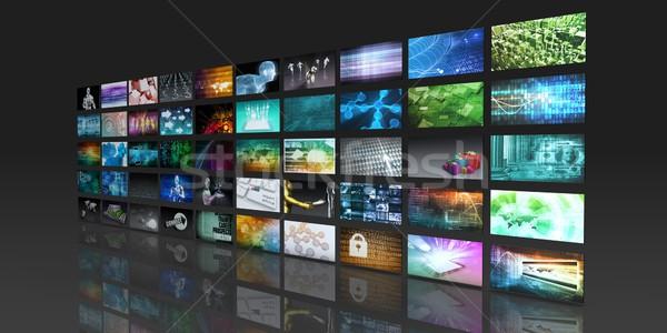 мультимедийные технологий цифровой информации бизнеса Сток-фото © kentoh