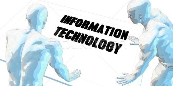 Bilgi teknolojisi tartışma iş toplantısı sanat toplantı arka plan Stok fotoğraf © kentoh