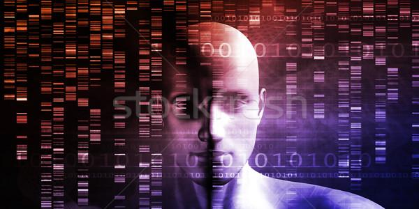 Wetenschappelijk onderzoek genetisch dna wetenschap gezondheid geneeskunde Stockfoto © kentoh