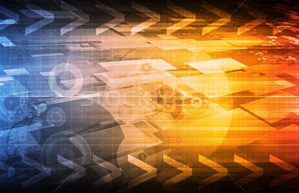 Business tech kunst internet netwerk Stockfoto © kentoh