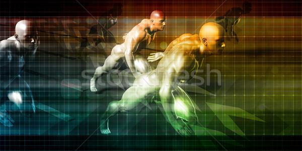 Automatisation industrie logiciels technologie ordinateur fond Photo stock © kentoh
