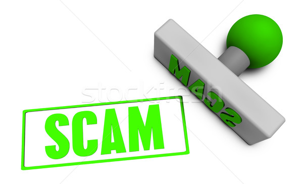 Stock photo: Scam Stamp