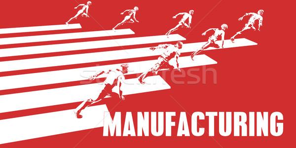 Fabrico pessoas de negócios corrida caminho negócio mulheres Foto stock © kentoh